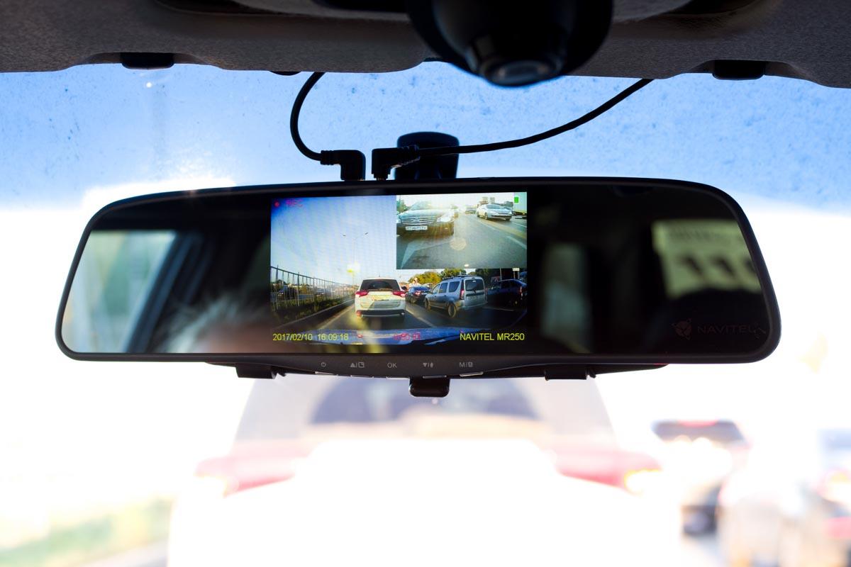 Тестируем зеркало-видеорегистратор Navitel MR250 с дополнительной камерой заднего вида © Техномод
