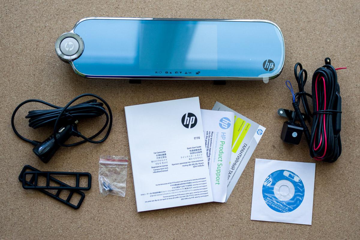 Обзор зеркала HP F770 с видеорегистратором и дополнительной камерой © Техномод