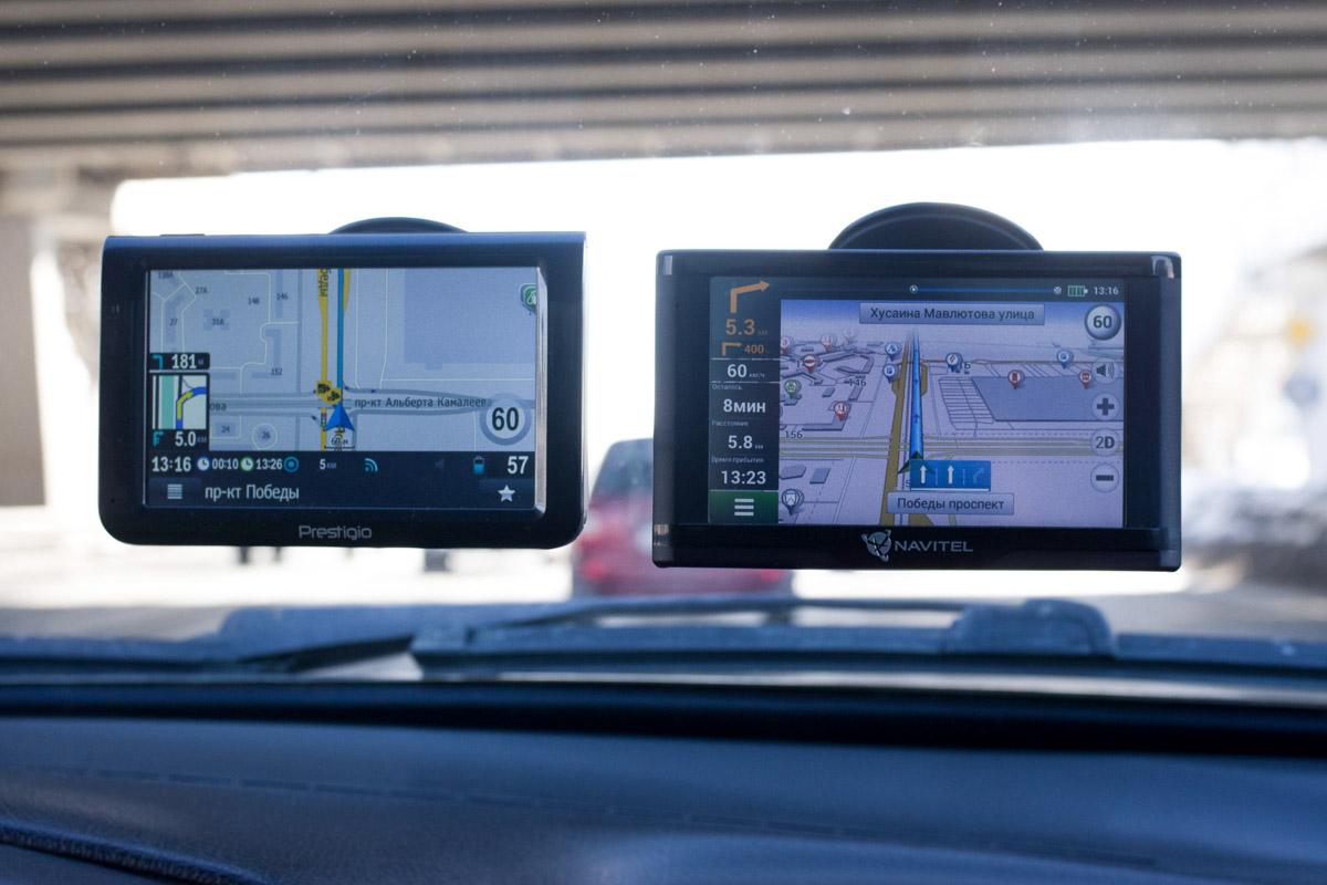 Сравниваем навигатор Navitel E500 Magnetic и Prestigio GeoVision 5069 © Техномод