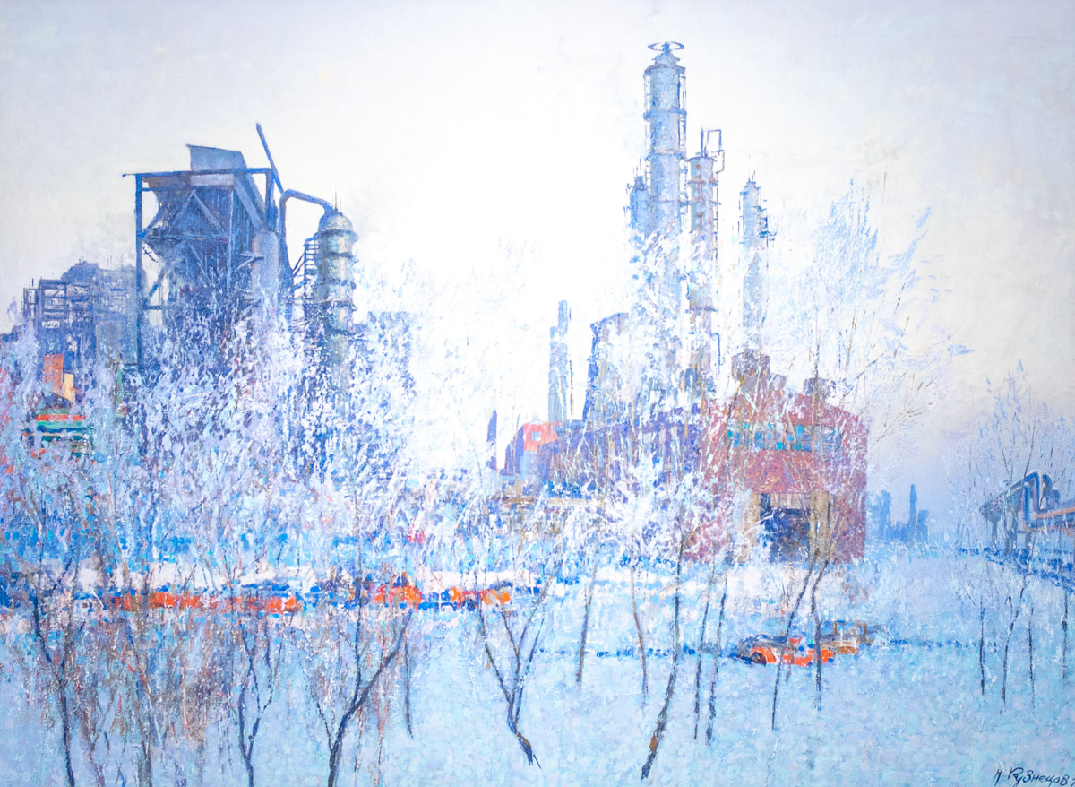 Урбанистические пейзажи Татарстана в картинах Кузнецова © Техномод