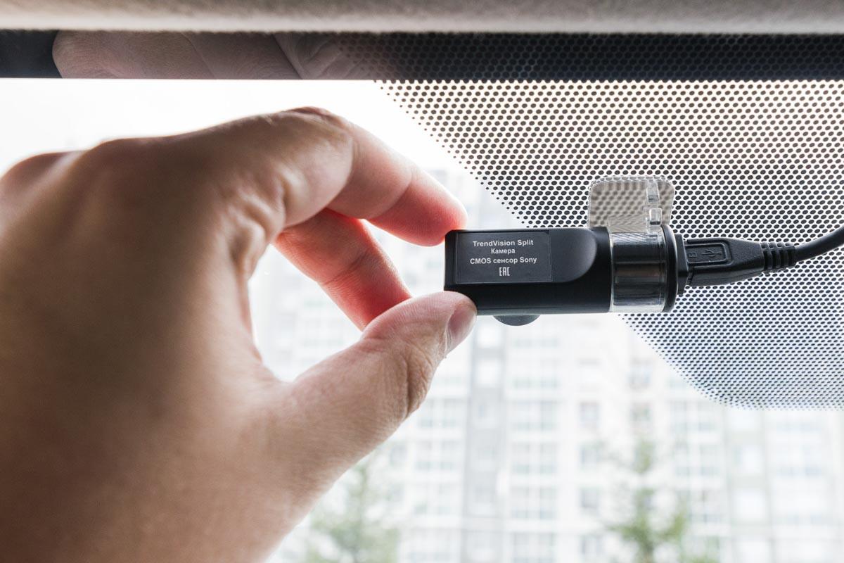 Тестируем модульный видеорегистратор для скрытой установки TrendVision Split © Техномод