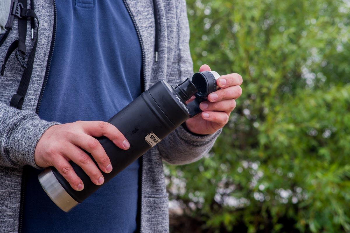 Термобутылка Stanley Classic. Свежая и прохладная вода всегда рядом © Техномод
