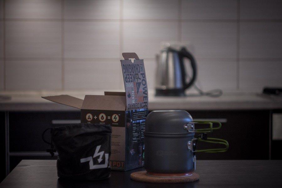 Котелок-зарядник PowerPot. Варим электричество дома и на природе © Техномод
