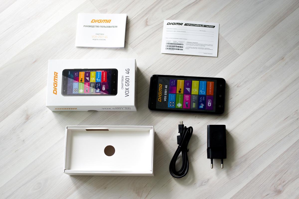 Обзор смартфона Digma VOX G501 4G © Техномод