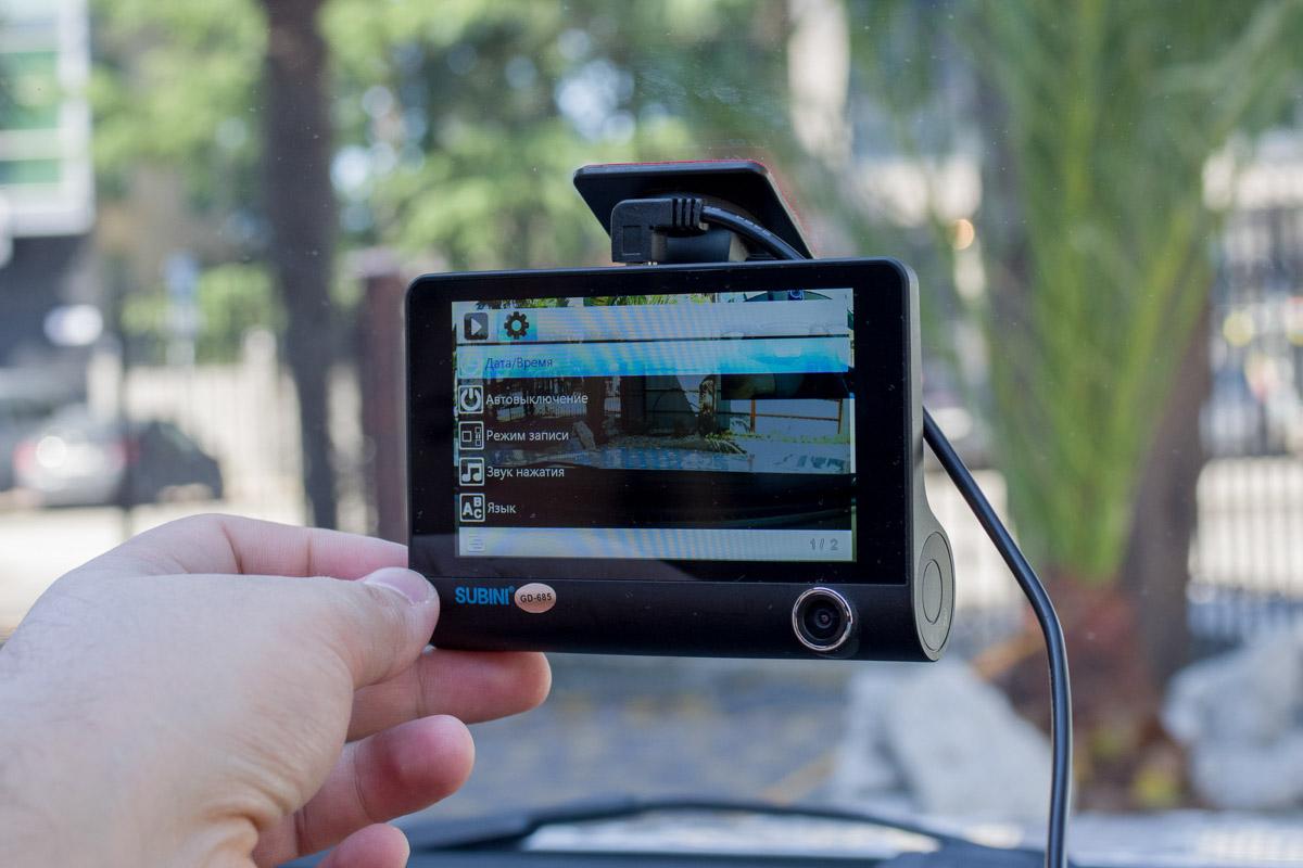 Обзор автомобильного видеорегистратора Subini GD-685RU с тремя камерами © Техномод