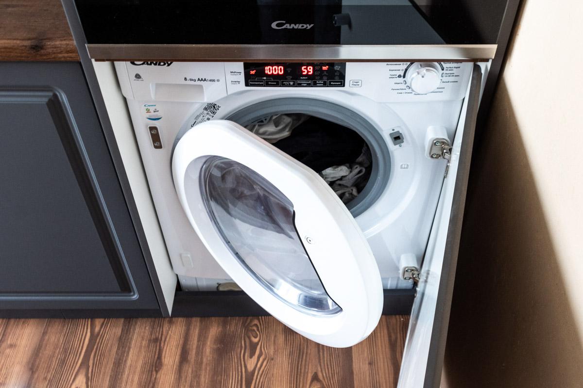 Обзор встраиваемой стиральной машины с сушкой Candy CBWD 8514TWH © Техномод