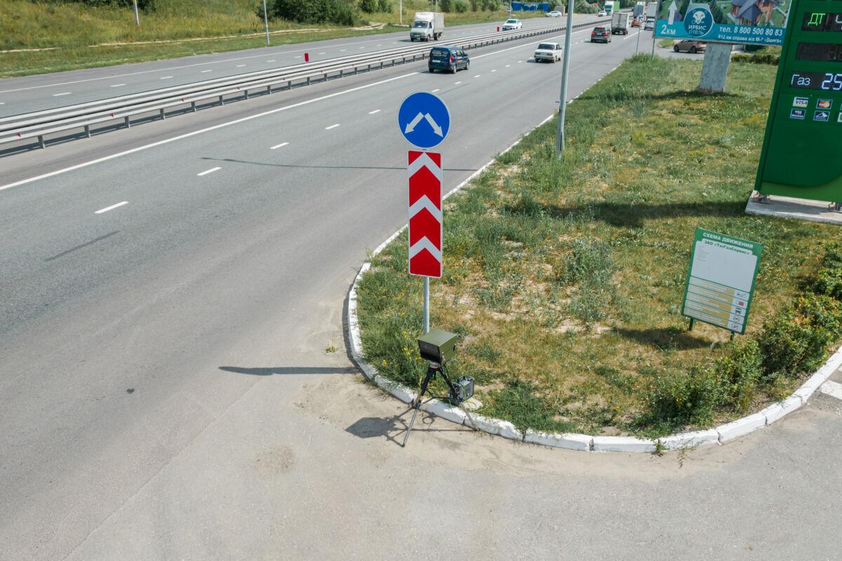 Мобильная камера «Полискан» установленная на трассе М7 недалеко от Казани © Техномод