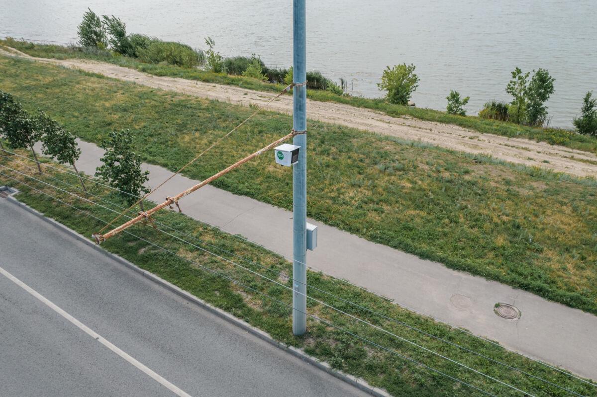 Стационарная камера мониторинга чистоты улиц TEST в Казани © Техномод