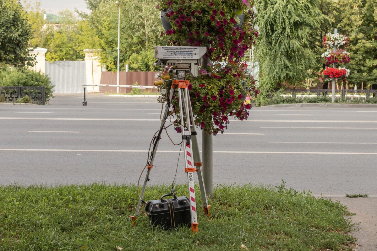Мобильная камера «Кордон-М2» установленная в Казани на улице Павлюхина © Техномод