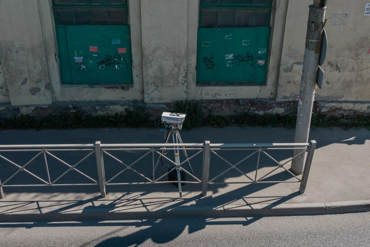 Мобильная камера «Кордон-М2» установленная в Казани на улице Клары Цеткин © Техномод