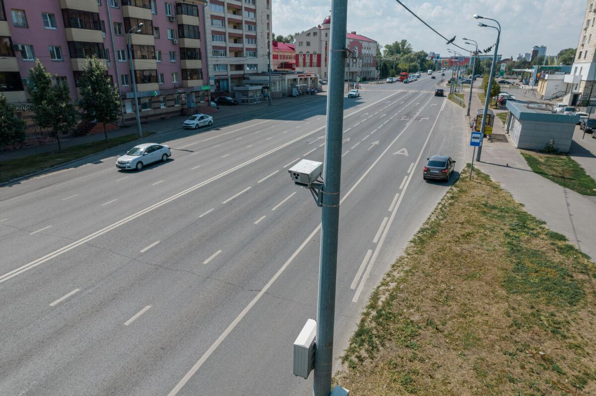 Стационарная камера «Кордон-М4» установленная в Казани на улице Назарбаева © Техномод